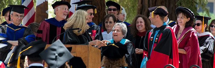 Photo of Stanford GSE Faculty at Commencement 2014