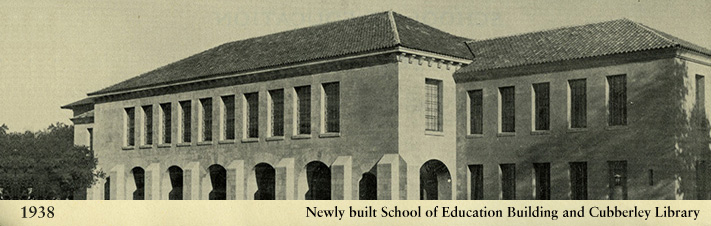 Photo of Cubberley Education Building from 1938