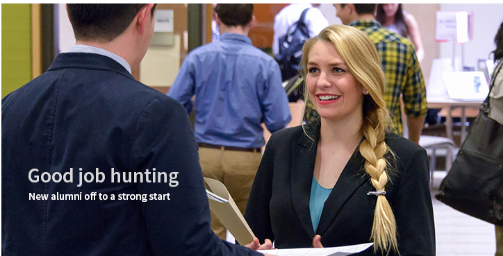 Good Job hunting: New alumni off to a strong start