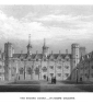 European institutions, such as Cambridge, helped initially define what it means to be a university. (Print c. 1840 by John Le Ceux, of Second Court, St. John's College, Cambridge)