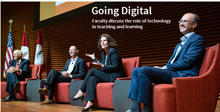 Going Digital; Faculty discuss the role of technology in teaching and learning